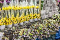 Mercado floral en Bangkok, Tailandia Foto de archivo