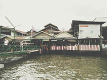 Mercado flotante Fotografía de archivo libre de regalías