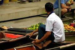 Mercado flotante Imagen de archivo libre de regalías