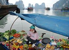 Mercado flotante asiático Imagen de archivo libre de regalías