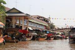 Mercado flotante de Amphawa Imagenes de archivo
