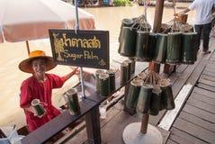 Mercado flotante de Ayothaya Fotos de archivo libres de regalías