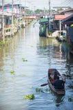 Mercado flotante de Bangkok en Tailandia Imagenes de archivo