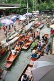 Mercado flotante de Damnoen Saduak Imagenes de archivo