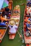 Mercado flotante de Damnoen Saduak Fotos de archivo libres de regalías