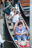Mercado flotante de Damnoen Saduak en Tailandia Fotografía de archivo