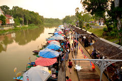 Mercado flotante de Klonghae Fotos de archivo