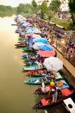 Mercado flotante de Klonghae Fotografía de archivo libre de regalías