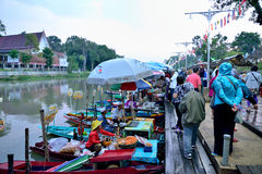 Mercado flotante de Klonghae Imagen de archivo