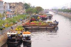 Mercado flotante de la flor de la primavera Fotos de archivo libres de regalías