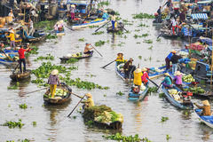 Mercado flotante de Nga Nam Imagen de archivo