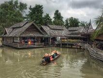 Mercado flotante de Pattaya Fotografía de archivo