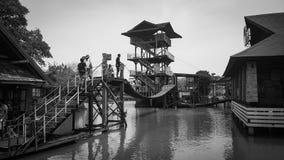 Mercado flotante de Pattaya Imagenes de archivo