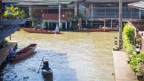 Mercado flotante de Tailandia foto de archivo