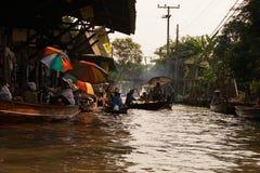 Mercado flotante de Tailandia Imagen de archivo