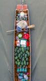 Mercado flotante de Tailandia Fotografía de archivo
