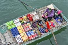 Mercado flotante en Vietnam Imagen de archivo