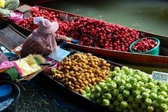 Mercado flotante Tailandia Fotos de archivo libres de regalías