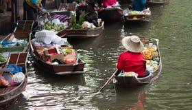 Mercado flotante Tailandia Fotos de archivo