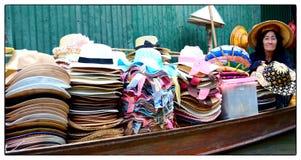 Mercado flotante Tailandia foto de archivo