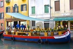 Mercado flotante veneciano Imágenes de archivo libres de regalías