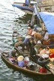 Mercado flotante, Vietnam Foto de archivo libre de regalías