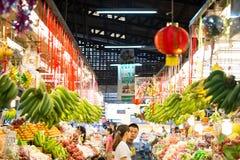 Mercado fresco tailandés en Año Nuevo chino Imagenes de archivo