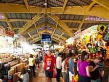 Mercado grande de Ben Thanh em Ho Chi Minh, Vietnam Fotos de Stock