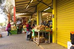 Mercado Hadera Israel de los colores imágenes de archivo libres de regalías