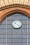 Mercado Hall Clock Foto de archivo libre de regalías