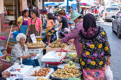 Mercado Hat Yai de Kim Yong Foto de archivo