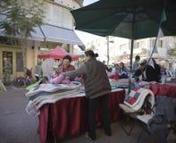 Mercado hecho a mano Israel de Nahalat Binyamin Foto de archivo libre de regalías