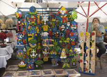 Mercado hecho a mano Israel de Nahalat Binyamin Fotos de archivo libres de regalías