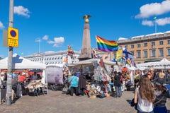 Mercado Helsínquia, Finlandia, Europa Imagens de Stock