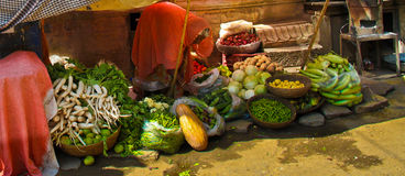 Mercado hindú indio Imagen de archivo libre de regalías