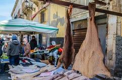 Mercado histórico de Ortigia fotografía de archivo