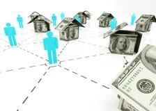 Mercado imobiliário Imagens de Stock Royalty Free