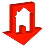 Mercado imobiliário causando um crash Imagens de Stock
