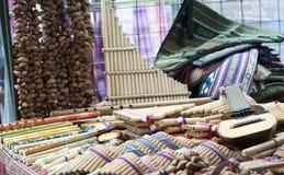 Mercado indígena colorido de Otavalo Foto de archivo libre de regalías