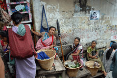 Mercado indiano Foto de Stock Royalty Free
