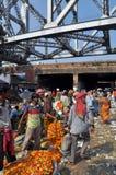 Mercado indio de la flor Fotografía de archivo