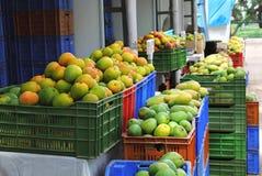 Mercado indio del mango Imagenes de archivo