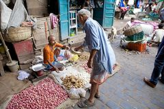 Mercado indio, Kolkata, la India Fotos de archivo libres de regalías