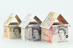 Mercado inmobiliario en el Reino Unido, un futuro próspero fotos de archivo libres de regalías