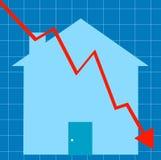 Mercado inmobiliario que causa un crash libre illustration