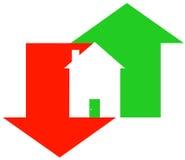 Mercado inmobiliario que fluctúa ilustración del vector