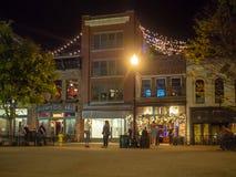 Mercado, Knoxville, Tennessee, Estados Unidos da América: [Vida noturna no centro de Knoxville] imagem de stock