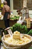 Mercado Kyoto Japón de la comida de Nishiki Fotografía de archivo libre de regalías