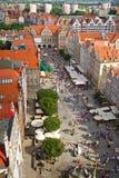Mercado largo en la ciudad vieja de Gdansk Imágenes de archivo libres de regalías