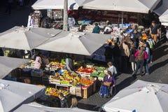 Mercado livre em Roma - Campo de Fiori Fotografia de Stock